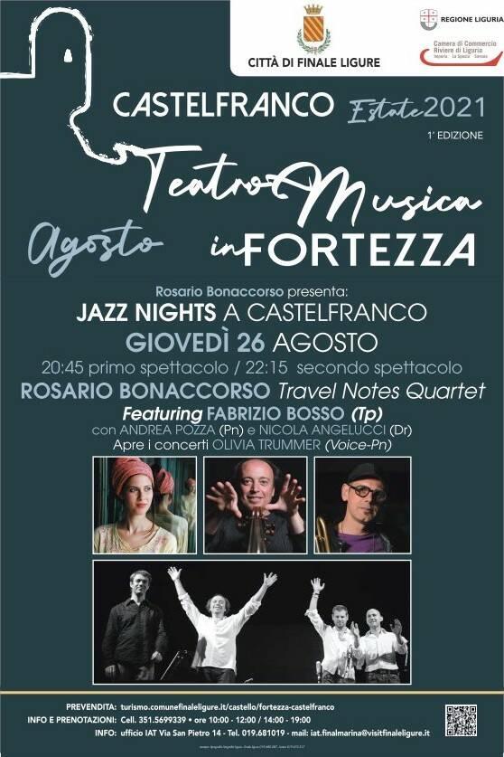 Finale Ligure concerto Rosario Bonaccorso Fortezza Castelfranco