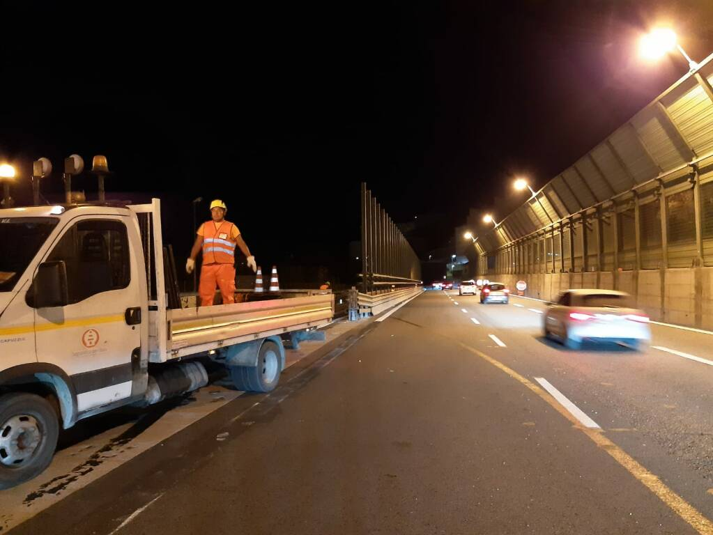 Fine cantiere A10