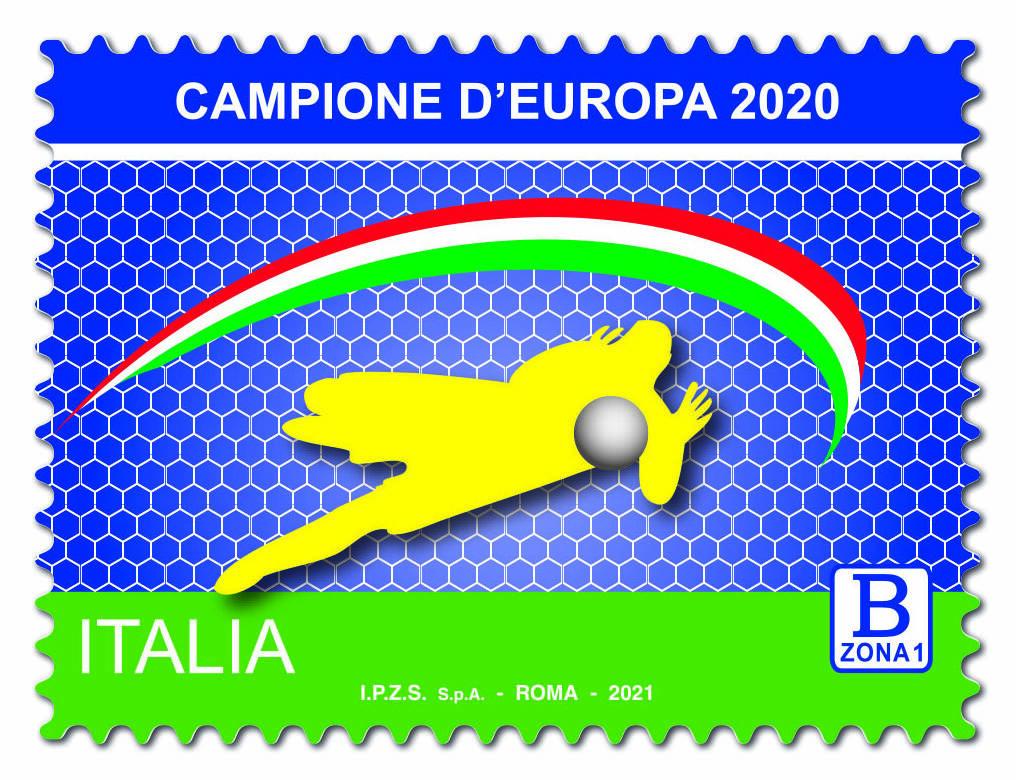francobollo italia campione d'europa