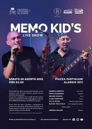"""Alassio """"Memo Kid's Live Show"""" concerto 2021"""