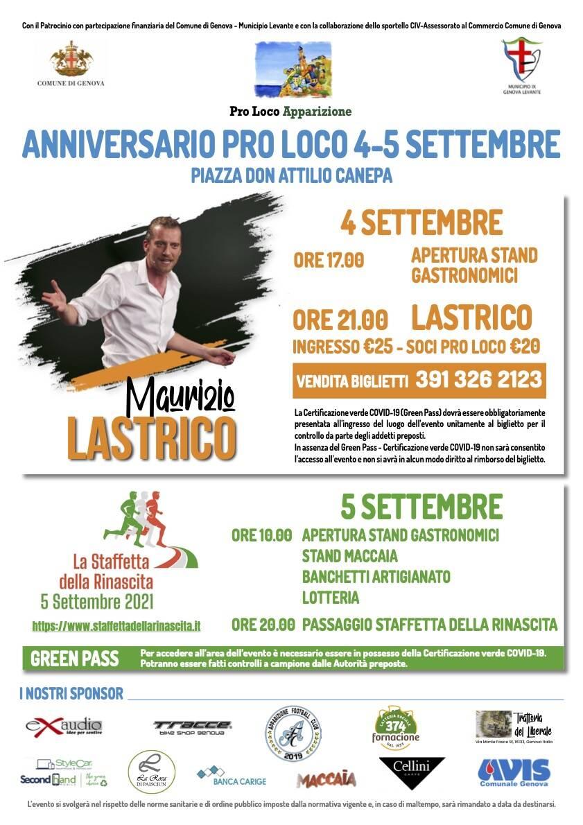Genova Festa Pro Loco Apparizione settembre 2021