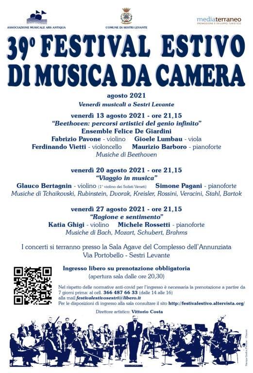 Sestri Levante Festival Estivo Musica da Camera 2021