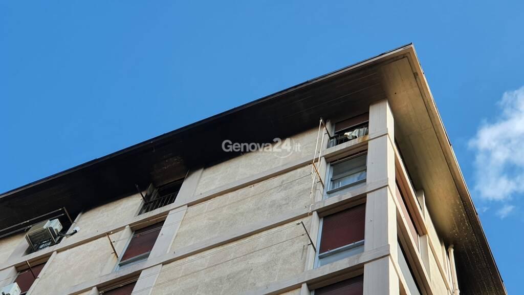 incendio appartamento via sansoni