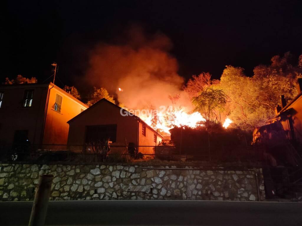 incendio casarza ligure