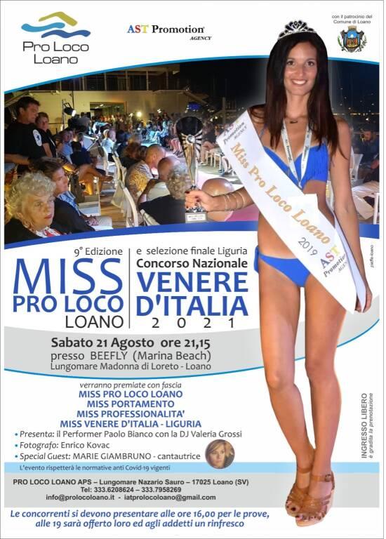 Miss Pro Loco Loano 2021 concorso di bellezza