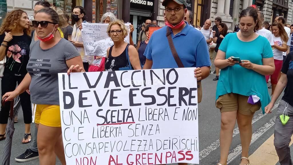 no green pass manifestazione 7 agosto