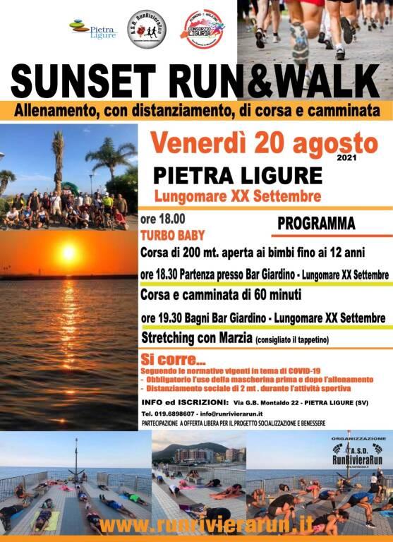 Pietra Ligure Sunset Run&Walk 2021 allenamento di gruppo