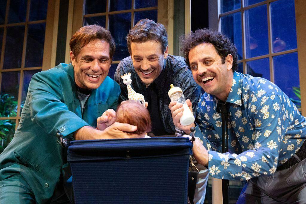 """""""Tre uomini e una culla"""" commedia teatrale"""