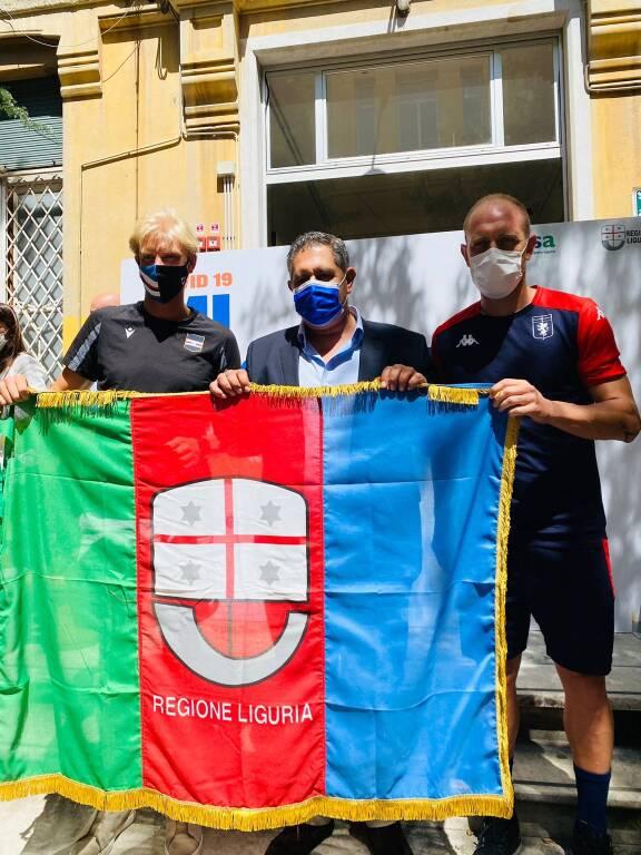 Vaccinazione Genoa e Samp