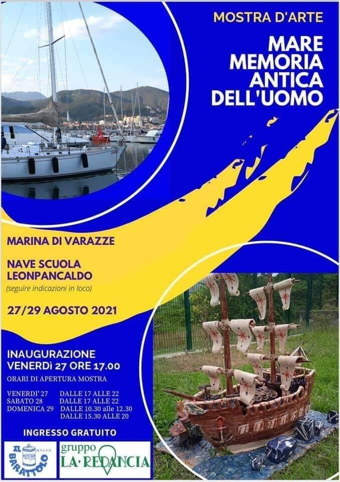 """Varazze """"Mare memoria antica dell'uomo"""" mostra onlus Redancia e Il Barattolo"""