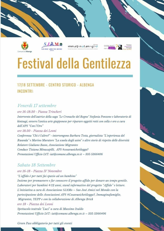 Albenga Festival della Gentilezza 2021