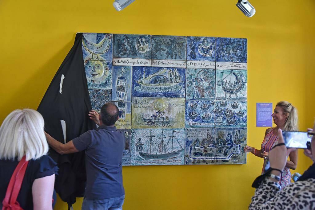 Albisola, restaurato il pannello di Luzzati