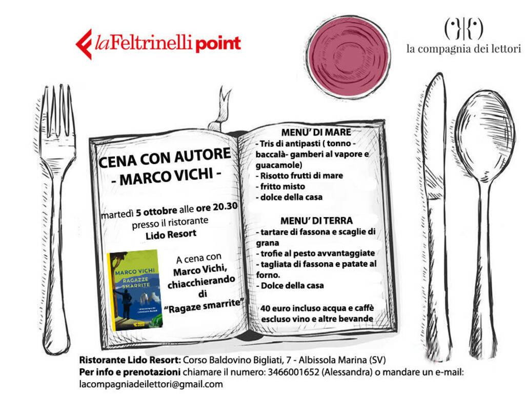 """Albissola Marina """"Cena Letteraria"""" con Marco Vichi scrittore"""