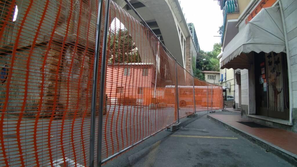Allestimento cantiere barriere antirumore rivarolo