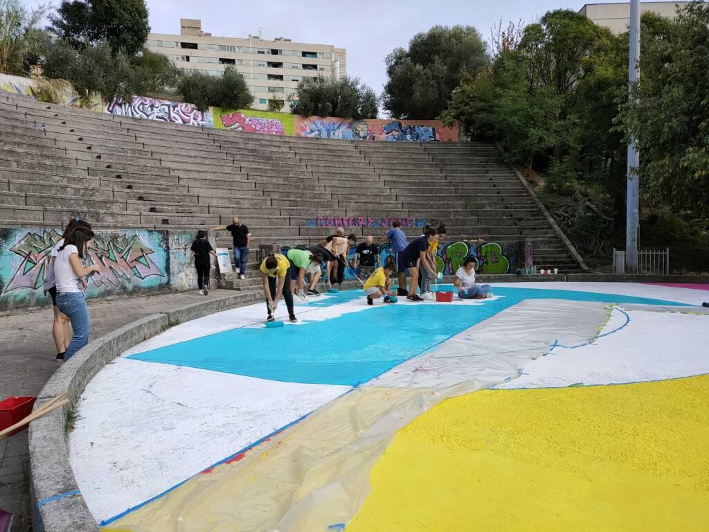 anfiteatro Teglia colorato