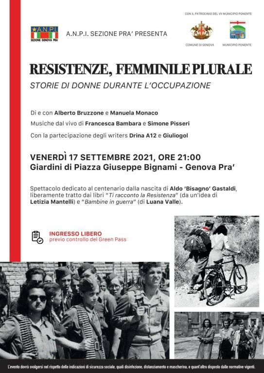 Anpi - Associazione Nazionale Partigiani d'Italia di Genova Pra' organizza due giornate di eventi