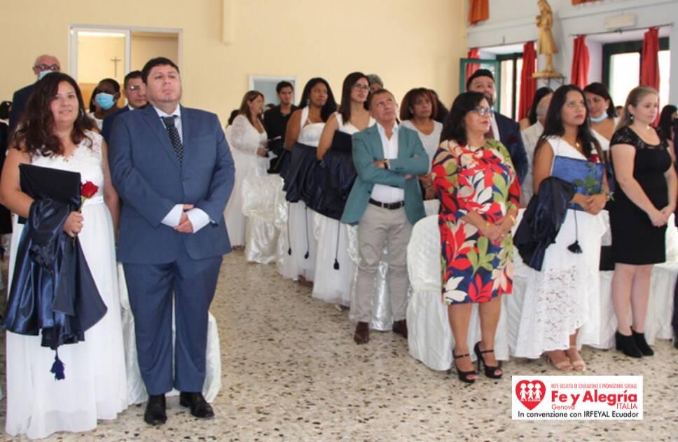 Diploma di scuola superiore a 23 giovani e adulti latinoamericani presso Fe y Alegria Genova-Irfeyal