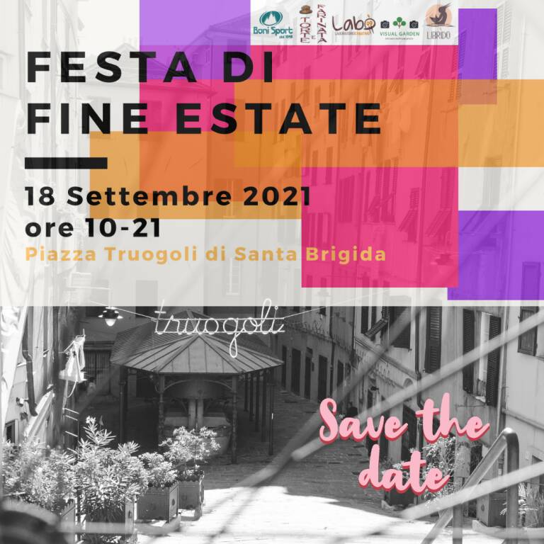 Sabato 18 Settembre 2021 ore 10-21 - Festa di Fine Estate ai Truogoli