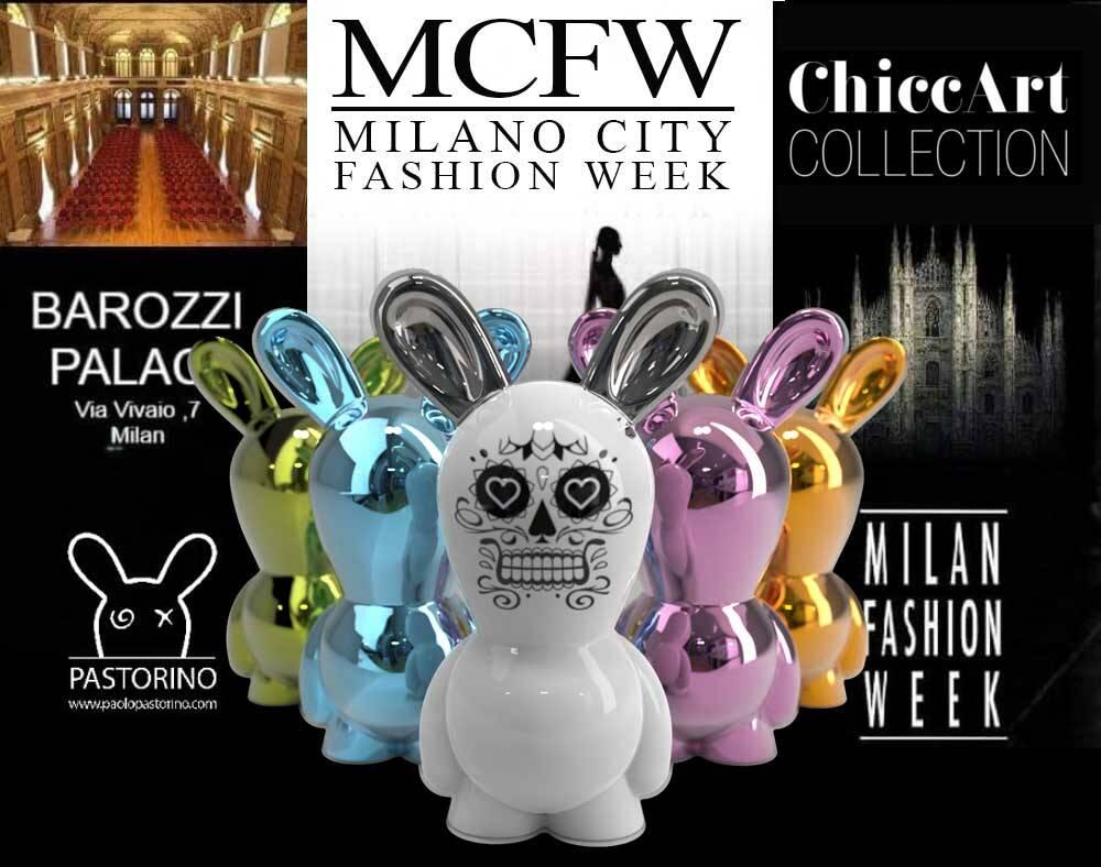 """L\'artista designer Paolo Pastorino in arte UrbanToi sbarca alla Fashion Week di milano con l\'ironicita di \""""Osvaldo\""""."""