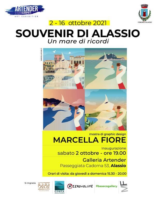 Alassio in mostra con le grafiche di Marcella Fiore alla Galleria Artender