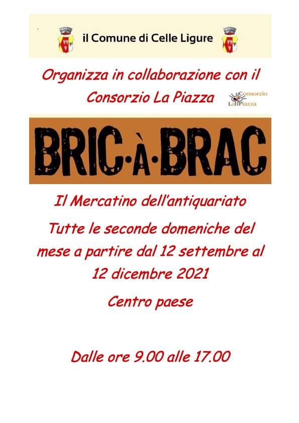 "Celle Ligure ""Bric-à-Brac"" 2021 mercatino antiquariato"
