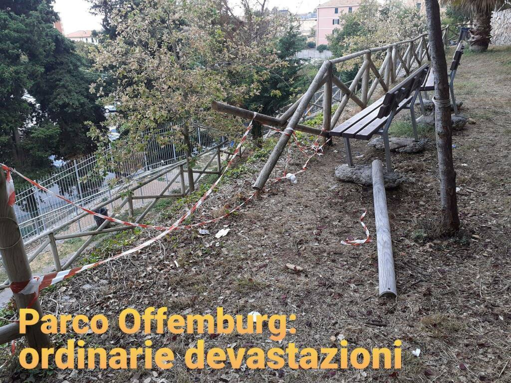 Degrado e sporcizia al parco di Offenburg