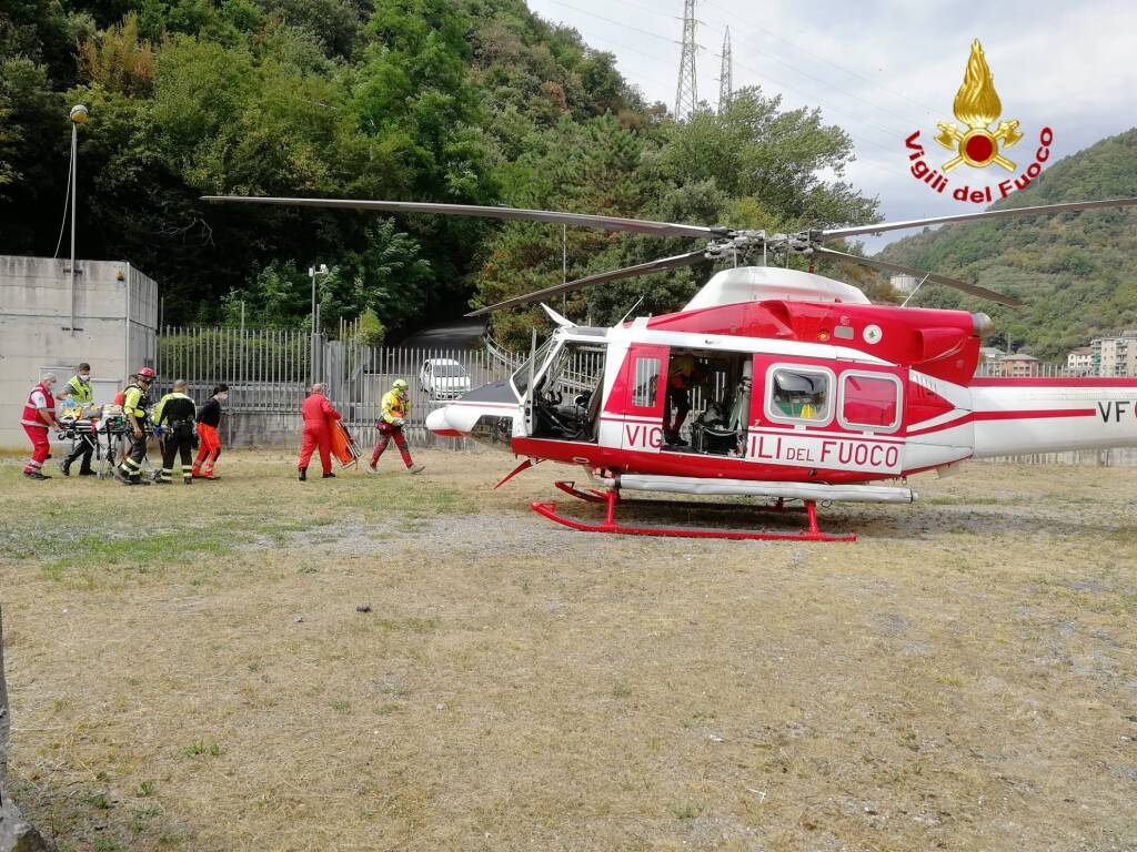 incidente cavassolo vigili fuoco elicottero