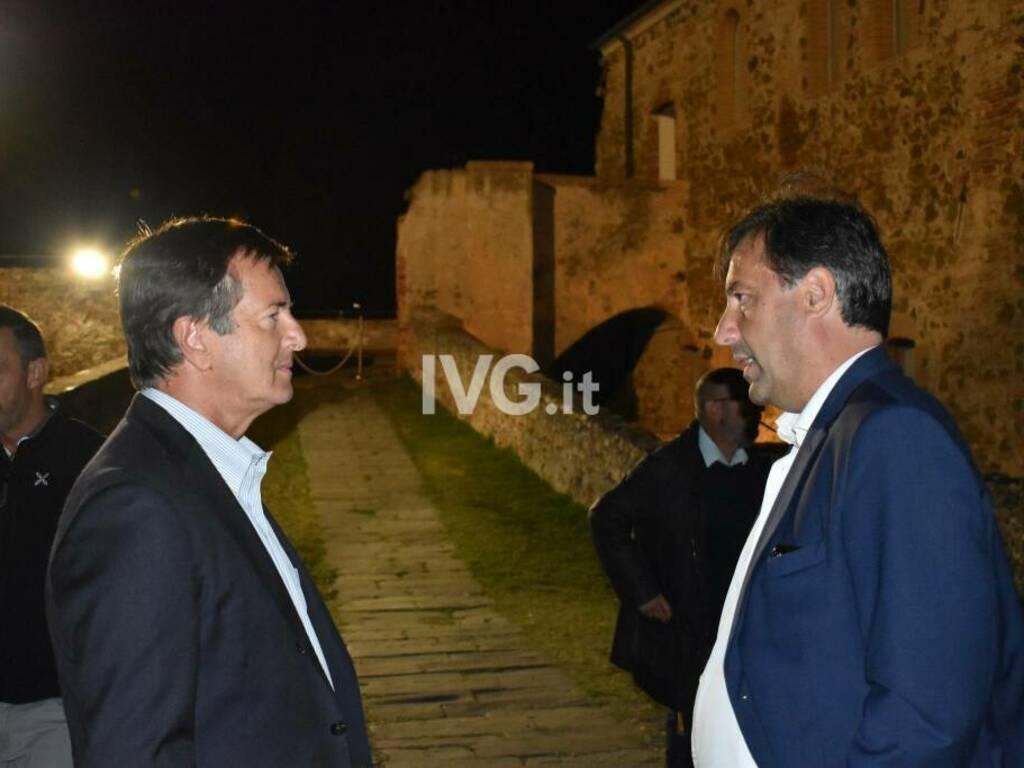 Il sindaco Gori a Savona con Russo