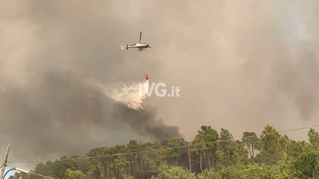 incendio rogo elicottero vigili fuoco generica