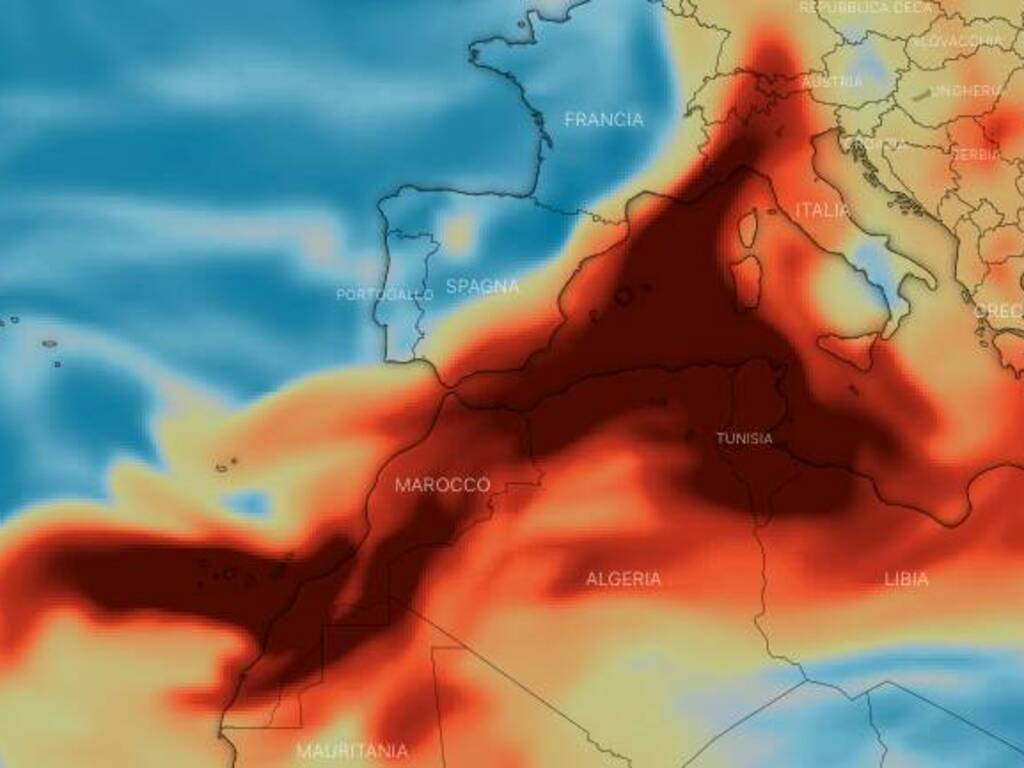nube gas e polvere vulcano canarie