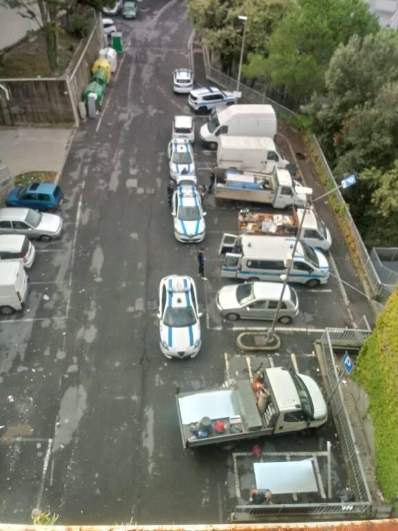 operazione polizia locale case occupate