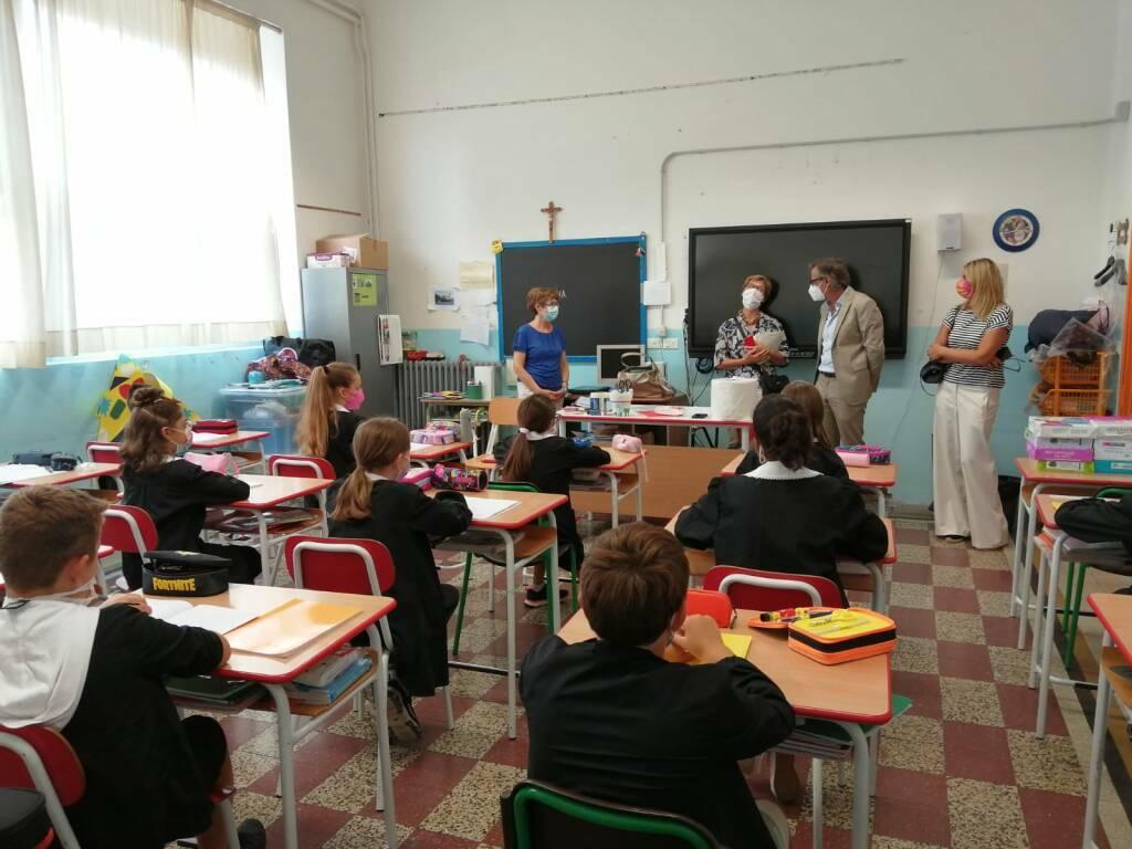 Primo giorno di scuola ad Albenga