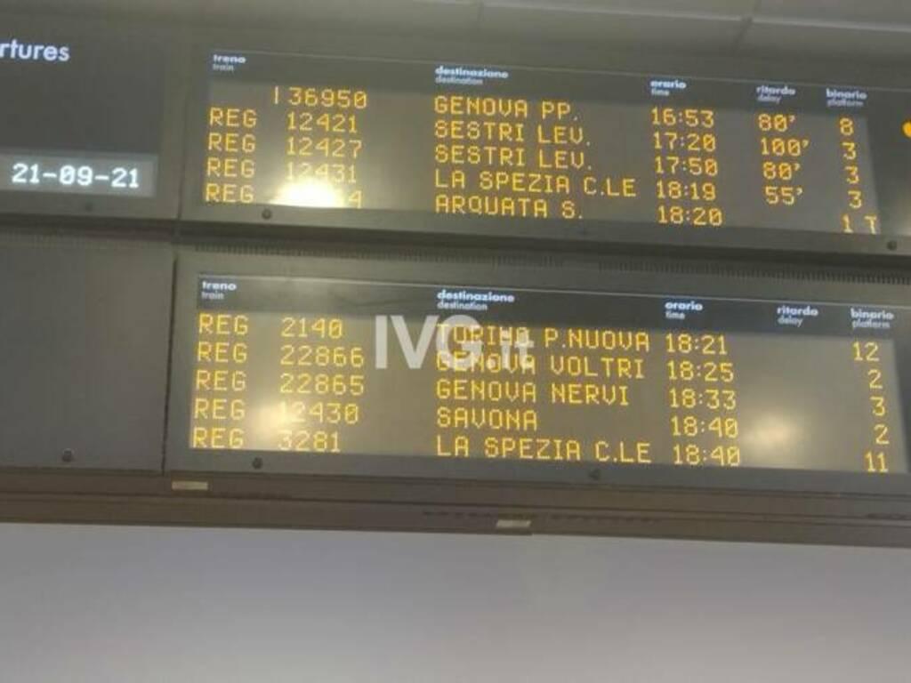 tabellone ritardi treni generica