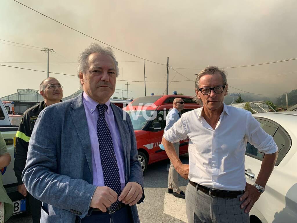Tomatis e viceprefetto Mottola