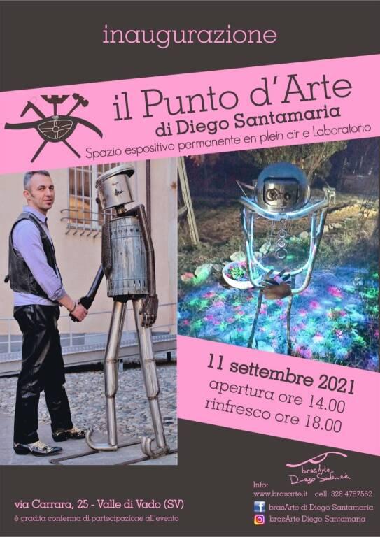 Vado Ligure inaugurazione laboratorio Diego Santamaria scultore