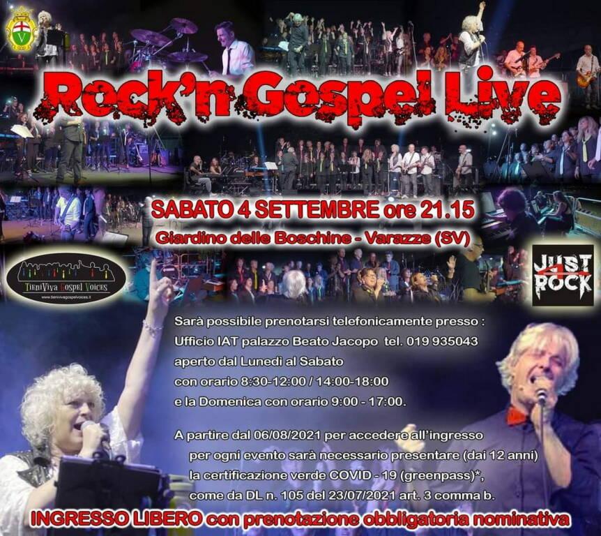 "Varazze ""Rock'n Gospel Live"" concerto TieniViva Gospel Voices e Just4Rock"
