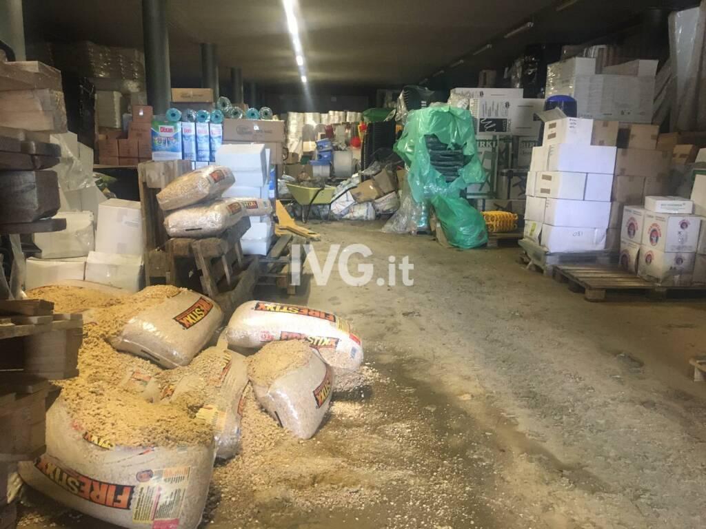 Aziende e officine invase da acqua e fango a Cairo