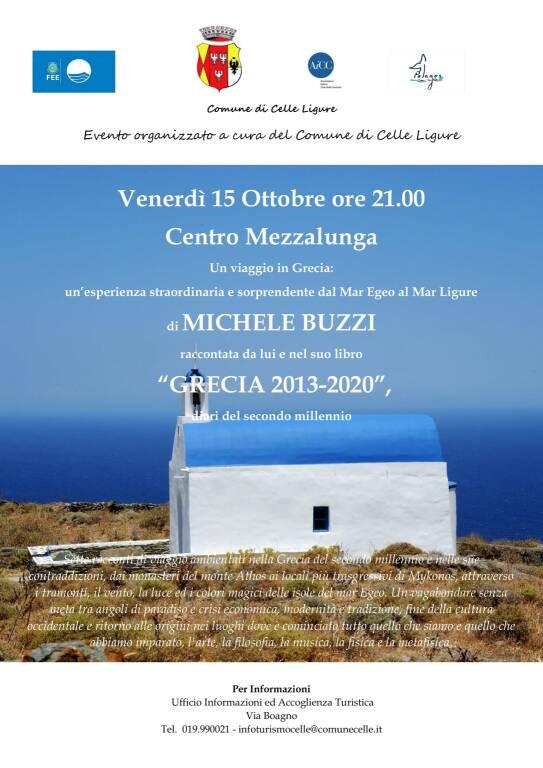 """Celle Ligure """"Grecia 2013 - 2020. Diari del Secondo Millennio"""" libro Michele Buzzi"""