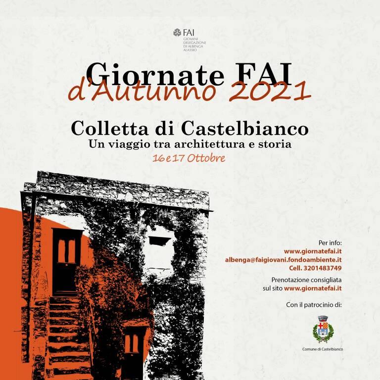 Colletta di Castelbianco visite guidate Giornate FAI d'Autunno 2021