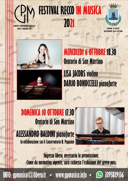 Festival Recco in Musica ottobre 2021