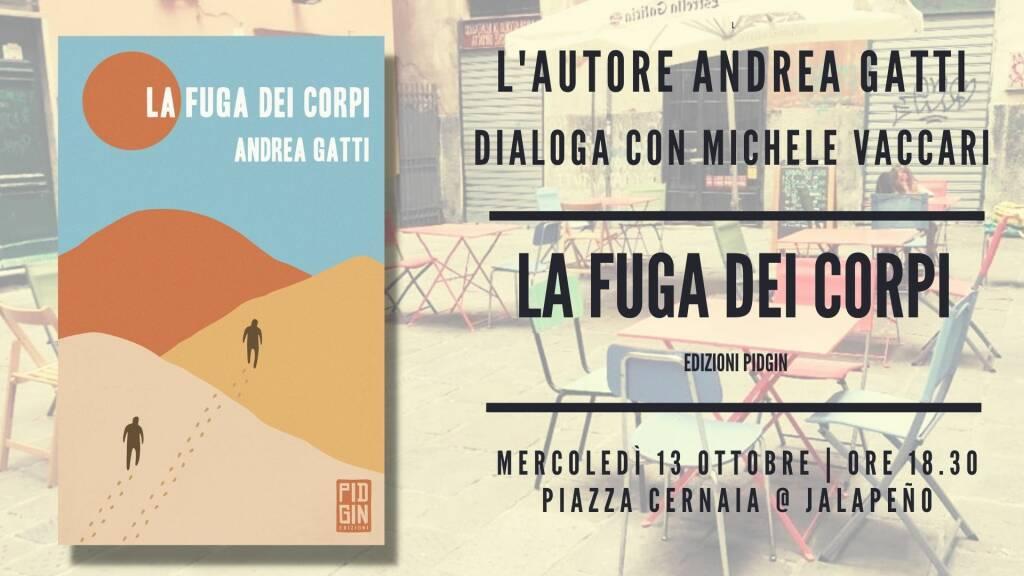 """Genova """"La fuga dei corpi"""" romanzo Andrea Gatti"""