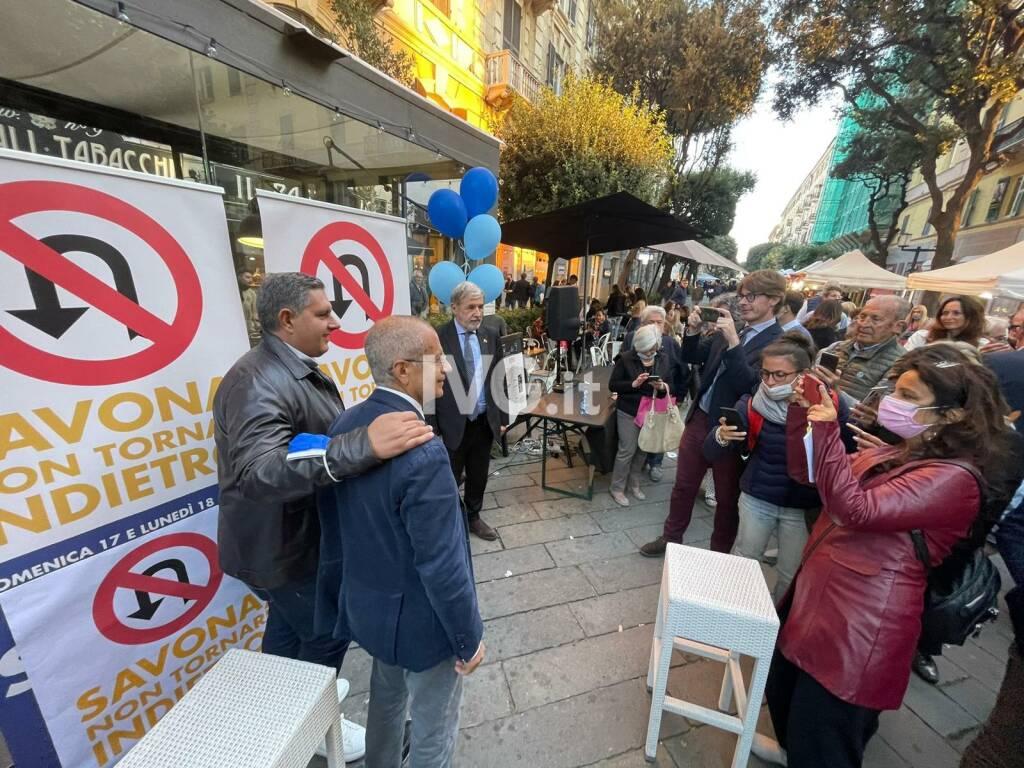 Il sindaco Marco Bucci a Savona per Schirru
